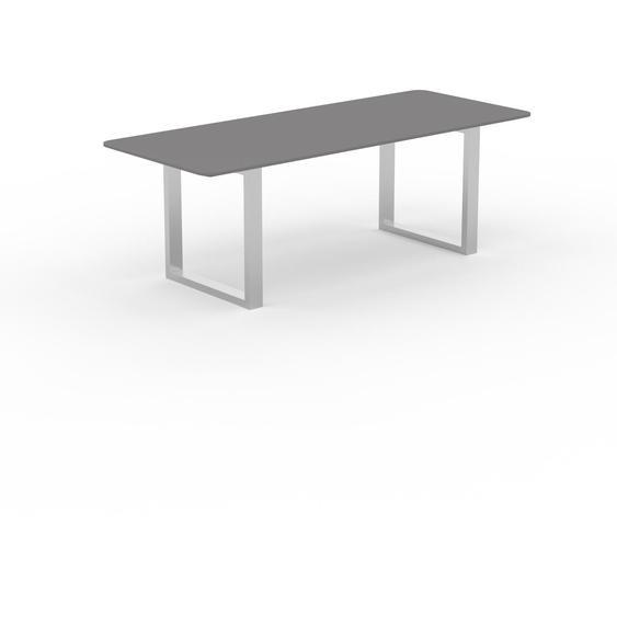 Table à manger - Gris, design, pour salle à manger ou cuisine plateau de qualité - 220 x 75 x 90 cm, personnalisable