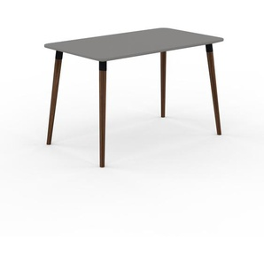 Table à manger - Gris, design scandinave, pour salle à manger ou cuisine nordique - 120 x 75 x 70 cm, personnalisable