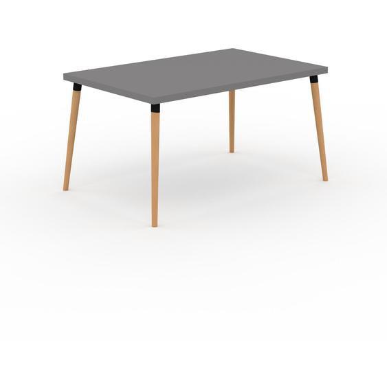 Table à manger - Gris, design scandinave, pour salle à manger ou cuisine nordique - 140 x 75 x 90 cm, personnalisable