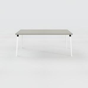 Table à manger - Gris, design scandinave, pour salle à manger ou cuisine nordique - 180 x 75 x 90 cm, personnalisable
