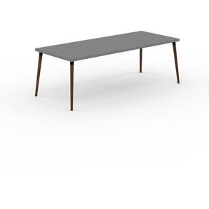 Table à manger - Gris, design scandinave, pour salle à manger ou cuisine nordique - 220 x 75 x 90 cm, personnalisable