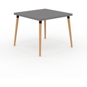 Table à manger - Gris, design scandinave, pour salle à manger ou cuisine nordique - 90 x 75 x 90 cm, personnalisable
