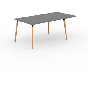 Table à manger - Gris, design scandinave, pour salle à manger ou cuisine nordique, table extensible à rallonge - 180 x 75 x 90 cm