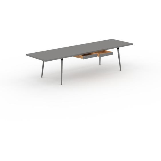 Table à manger - Gris, design scandinave, pour salle à manger ou cuisine nordique, table extensible à rallonge - 320 x 75 x 90 cm