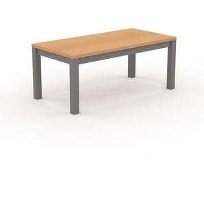 Table à manger - Hêtre, avec cadre Gris - 180 x 76 x 90 cm, personnalisable