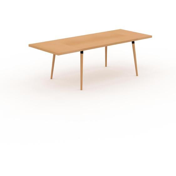 Table à manger - Hêtre, design scandinave, pour salle à manger ou cuisine nordique, table extensible à rallonge - 230 x 75 x 90 cm