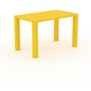 Table à manger - Jaune, design, pour salle à manger ou cuisine plateau de qualité - 120 x 76 x 70 cm, personnalisable