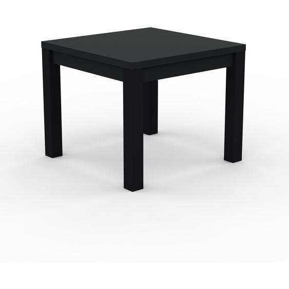 Table à manger - Noir, avec cadre Noir - 90 x 76 x 90 cm, personnalisable