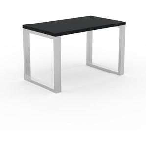 Table à manger - Noir, design, pour salle à manger ou cuisine plateau de qualité - 120 x 75 x 70 cm, personnalisable