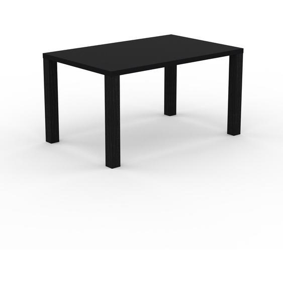 Table à manger - Noir, design, pour salle à manger ou cuisine plateau de qualité - 140 x 76 x 90 cm, personnalisable