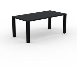 Table à manger - Noir, design, pour salle à manger ou cuisine plateau de qualité - 180 x 76 x 90 cm, personnalisable