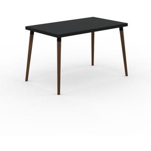 Table à manger - Noir, design scandinave, pour salle à manger ou cuisine nordique - 120 x 75 x 70 cm, personnalisable