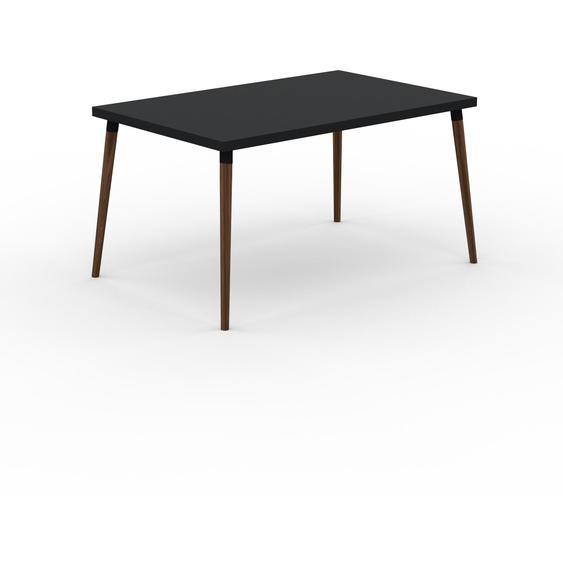 Table à manger - Noir, design scandinave, pour salle à manger ou cuisine nordique - 140 x 75 x 90 cm, personnalisable