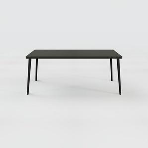 Table à manger - Noir, design scandinave, pour salle à manger ou cuisine nordique - 180 x 75 x 90 cm, personnalisable