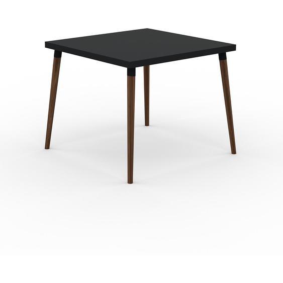 Table à manger - Noir, design scandinave, pour salle à manger ou cuisine nordique - 90 x 75 x 90 cm, personnalisable
