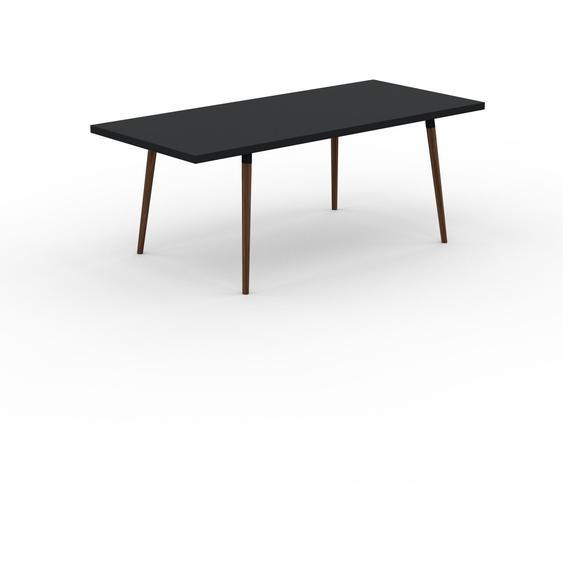 Table à manger - Noir, design scandinave, pour salle à manger ou cuisine nordique, table extensible à rallonge - 200 x 75 x 90 cm