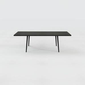 Table à manger - Noir, design scandinave, pour salle à manger ou cuisine nordique, table extensible à rallonge - 240 x 75 x 90 cm