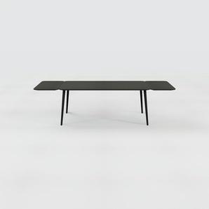 Table à manger - Noir, design scandinave, pour salle à manger ou cuisine nordique, table extensible à rallonge - 280 x 75 x 90 cm