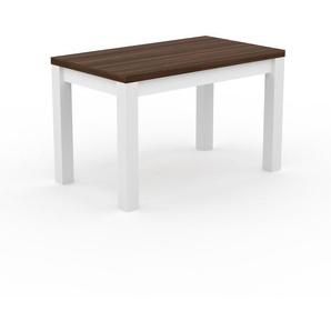 Table à manger - Noyer, avec cadre Blanc - 120 x 76 x 70 cm, personnalisable