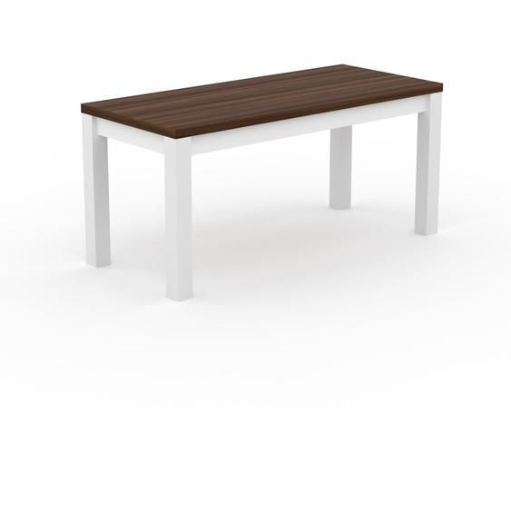 Table à manger - Noyer, avec cadre Blanc - 160 x 76 x 70 cm, personnalisable