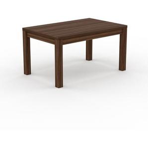 Table à manger - Noyer, avec cadre Noyer - 140 x 76 x 90 cm, personnalisable