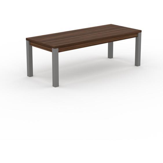 Table à manger - Noyer, avec cadre Noyer - 220 x 76 x 90 cm, personnalisable