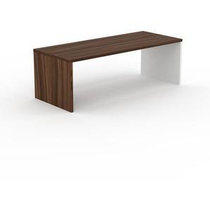Table à manger - Noyer, design, pour salle à manger ou cuisine plateau de qualité - 220 x 75 x 90 cm, personnalisable