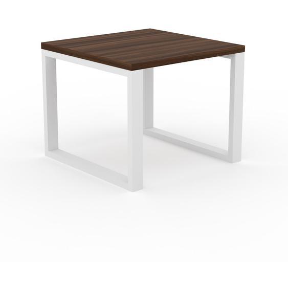Table à manger - Noyer, design, pour salle à manger ou cuisine plateau de qualité - 90 x 75 x 90 cm, personnalisable
