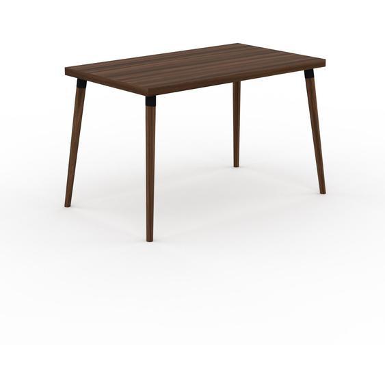 Table à manger - Noyer, design scandinave, pour salle à manger ou cuisine nordique - 120 x 75 x 70 cm, personnalisable