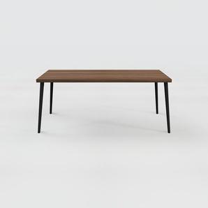 Table à manger - Noyer, design scandinave, pour salle à manger ou cuisine nordique - 180 x 75 x 90 cm, personnalisable