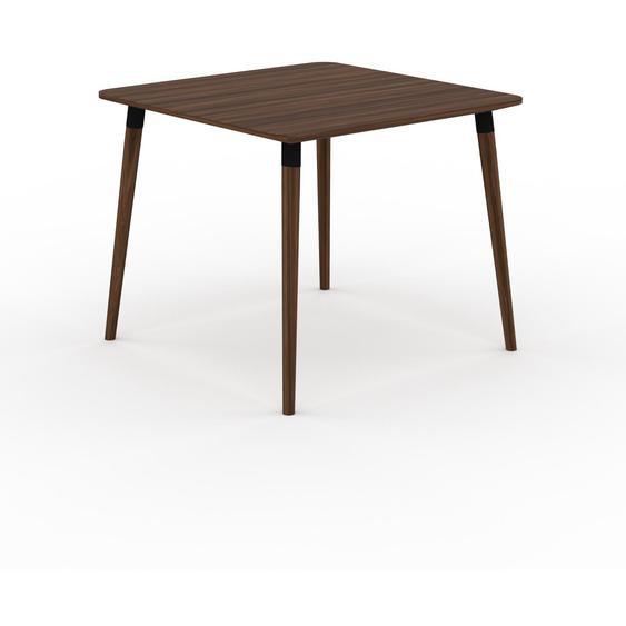 Table à manger - Noyer, design scandinave, pour salle à manger ou cuisine nordique - 90 x 75 x 90 cm, personnalisable