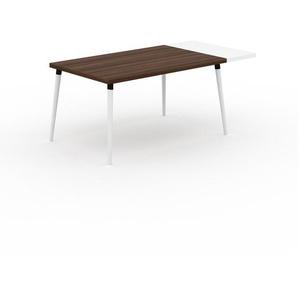 Table à manger - Noyer, design scandinave, pour salle à manger ou cuisine nordique, table extensible à rallonge - 180 x 75 x 90 cm