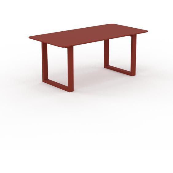 Table à manger - Rouge, design, pour salle à manger ou cuisine plateau de qualité - 180 x 75 x 90 cm, personnalisable