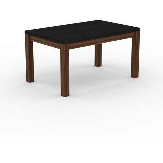 Table à manger - Wengé, avec cadre Noyer - 140 x 76 x 90 cm, personnalisable
