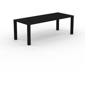 Table à manger - Wengé, design, pour salle à manger ou cuisine plateau de qualité - 220 x 76 x 90 cm, personnalisable