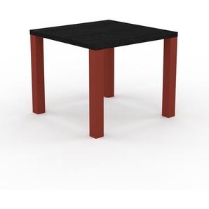 Table à manger - Wengé, design, pour salle à manger ou cuisine plateau de qualité - 90 x 76 x 90 cm, personnalisable