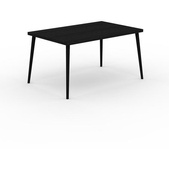 Table à manger - Wengé, design scandinave, pour salle à manger ou cuisine nordique - 140 x 75 x 90 cm, personnalisable