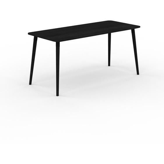 Table à manger - Wengé, design scandinave, pour salle à manger ou cuisine nordique - 160 x 75 x 70 cm, personnalisable