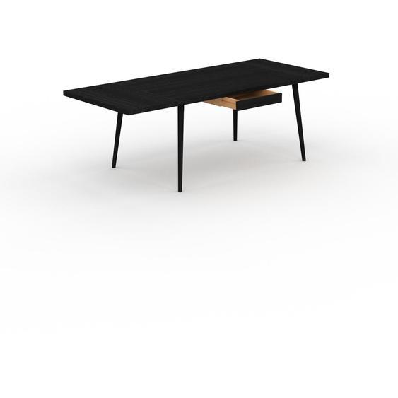 Table à manger - Wengé, design scandinave, pour salle à manger ou cuisine nordique, table extensible à rallonge - 220 x 75 x 90 cm