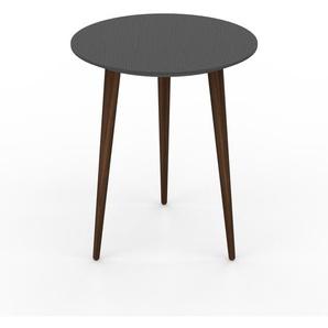 Table basse - Anthracite, ronde, design scandinave, petite table pour salon élégante - 40 x 50 x 40 cm, personnalisable
