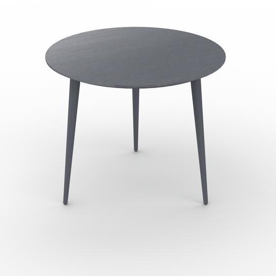 Table basse - Anthracite, ronde, design scandinave, petite table pour salon élégante - 60 x 50 x 60 cm, personnalisable