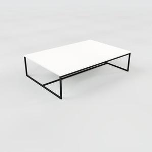 Table basse - blanc, design, bout de canapé sophistiqué - 121 x 31 x 81 cm, personnalisable
