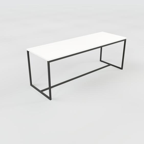 Table basse - Blanc, design, bout de canapé sophistiqué - 121 x 46 x 42 cm, personnalisable