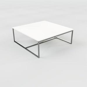 Table basse - Blanc, design, bout de canapé sophistiqué - 81 x 31 x 81 cm, personnalisable