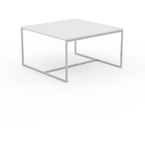 Table basse - blanc, design, bout de canapé sophistiqué - 81 x 46 x 81 cm, personnalisable