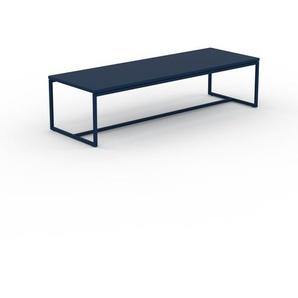 Table basse - bleu nuit, design, bout de canapé sophistiqué - 121 x 31 x 42 cm, personnalisable