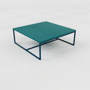Table basse - Bleu marine, design, bout de canapé sophistiqué - 81 x 31 x 81 cm, personnalisable