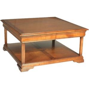 Table Basse carrée double plateau