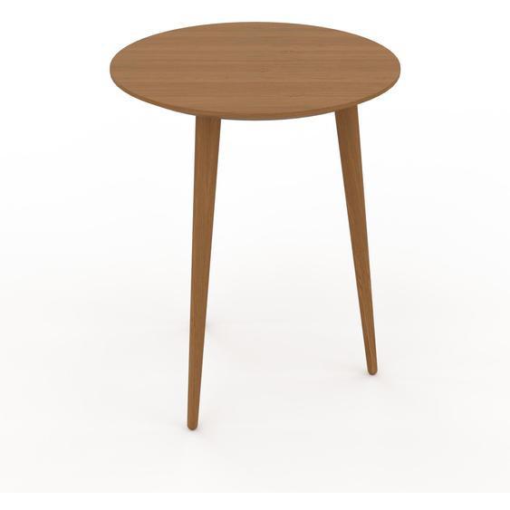 Table basse - Chêne, ronde, design scandinave, petite table pour salon élégante - 40 x 50 x 40 cm, personnalisable