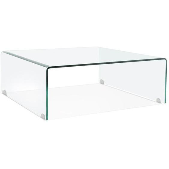 Table basse de salon BOBBY LOUNGE en verre transparent
